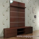 MJ-MT41 Meja Tv Minimalis Backdrop Hpl