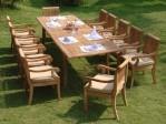 Set Meja Makan Taman Desain Minimalis MJ-MM05